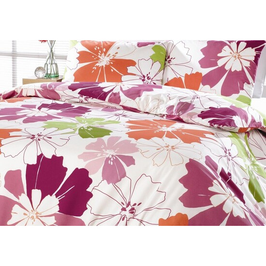 Rania Pink Quilt Cover Set Double