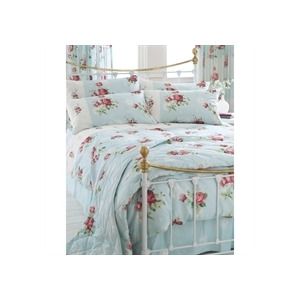 Photo of Stratford Duck Egg Quilt Cover Set Double Bed Linen