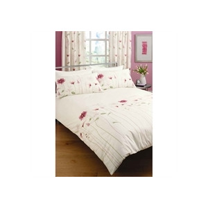 Photo of Summer Meadow Pink Quilt Cover Set Double Bed Linen