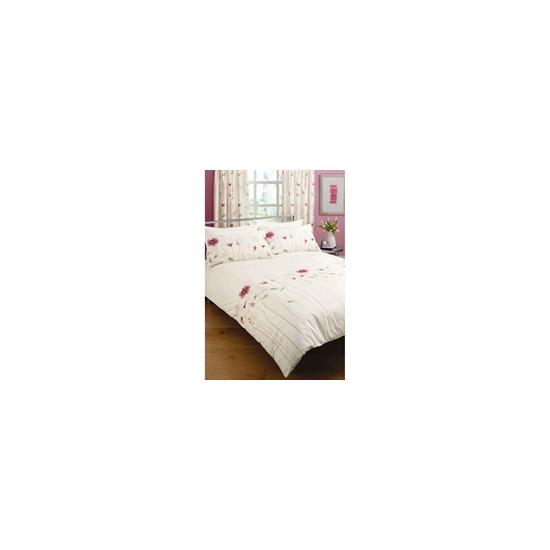 Summer Meadow Pink Quilt Cover Set King Size