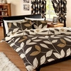 Photo of Vania Chocolate Quilt Cover Set Double Bed Linen