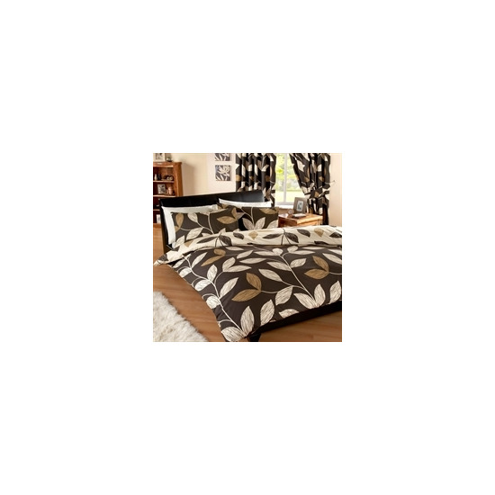 Vania Chocolate Quilt Cover Set Double