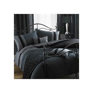 Photo of Blythe Black Quilt Cover Set Single Bed Linen