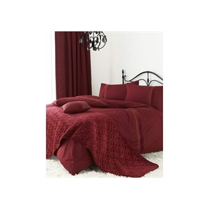 Photo of Blythe Wine Quilt Cover Set Single Bed Linen