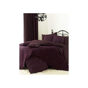 Photo of Blythe Aubergine Quilt Cover Set Double Bed Linen