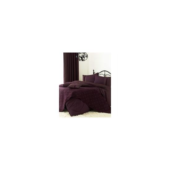 Blythe Aubergine Quilt Cover Set Double