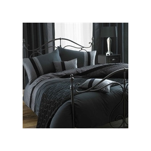 Photo of Blythe Black Quilt Cover Set King Size Bed Linen