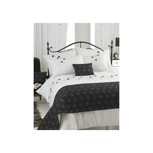 Photo of Flavia Silver Bed Runner Bedding
