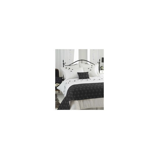 Flavia Silver Bed Runner