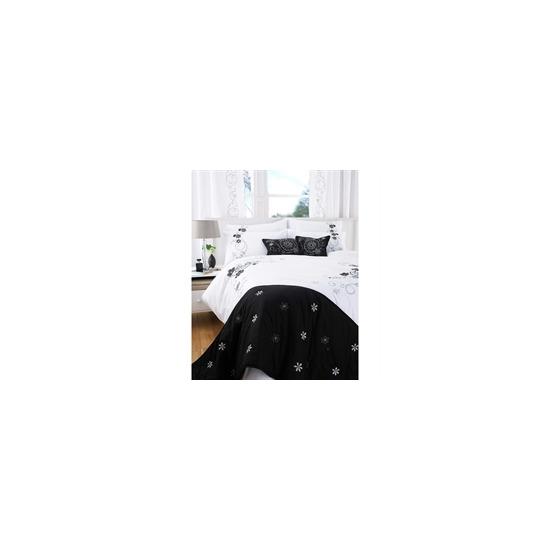 Lulu Black Quilt Cover Set Double