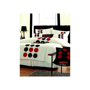 Photo of Spots Black Quilt Cover Set Super King Size Bed Linen