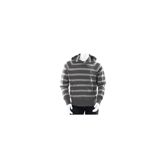 One True Saxon Stripe Hoodie Grey