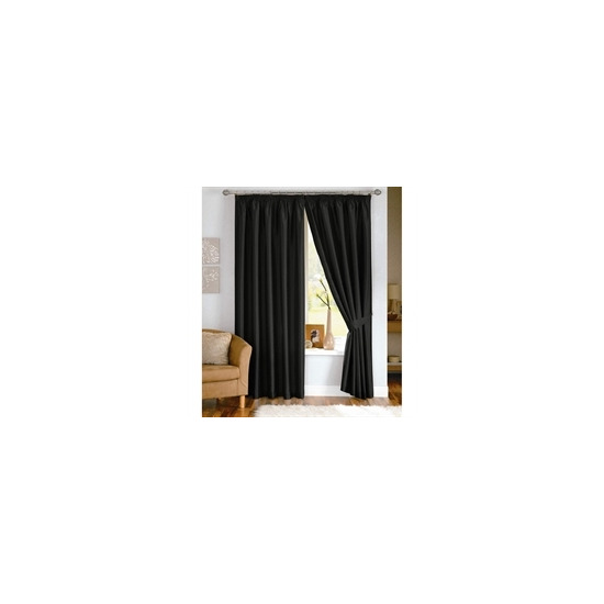 Java Black Lined Curtains 117x137cm