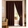 Photo of Java Chocolate Lined Curtains 117X137CM Curtain