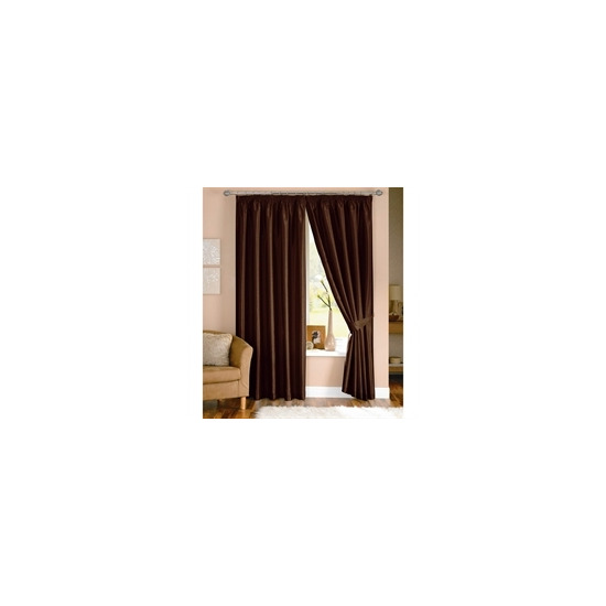 Java Chocolate Lined Curtains 117x137cm