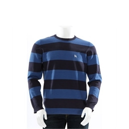 One True Saxon Crew Neck Bold Stripe Blue Reviews