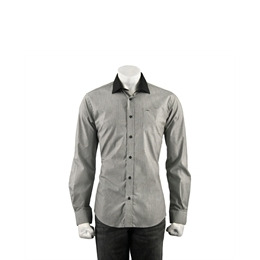 Guide Stripe Shirt With Tonal Collar - Black Reviews