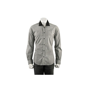 Photo of Guide Stripe Shirt With Tonal Collar - Black Shirt