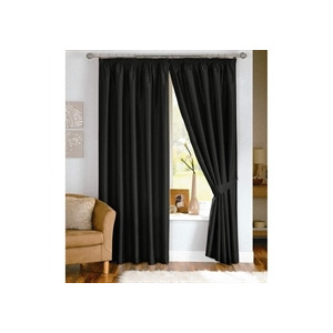 Photo of Java Black Lined Curtains 229X229CM Curtain