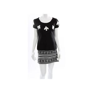 Photo of Yumi Black Jaquard Knitted Dress Dress