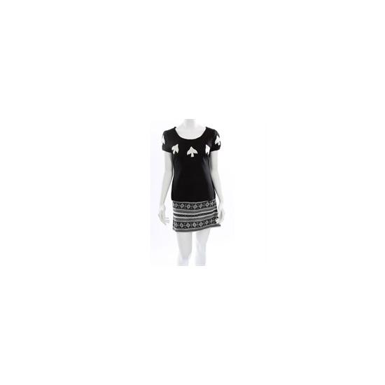 Yumi Black Jaquard Knitted Dress