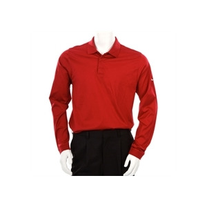 Photo of Nike Tiger Woods Long Sleeve Polo Red Tops Man
