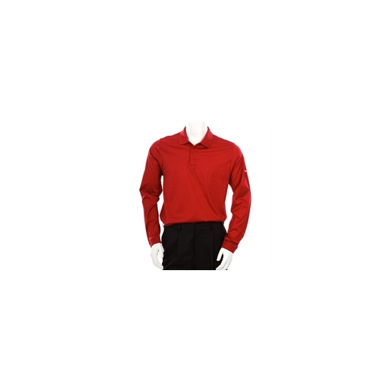 Nike Tiger Woods Long Sleeve Polo Red