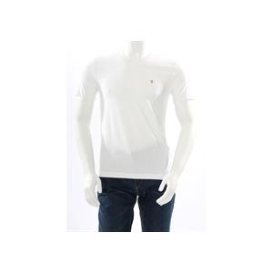 Photo of Farah Vintage V Neck T Shirt White T Shirts Man