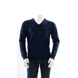 Farah Vintage ' The Hamilton' v neck jumper blue Reviews