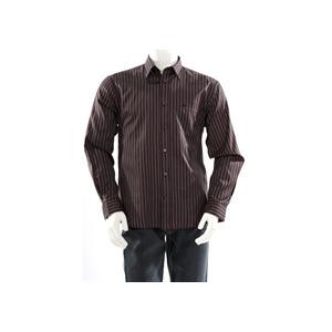 Photo of Melka Dobby Stripe Shirt - Black Shirt