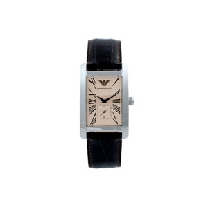 Photo of Emporio Armani Men's Black Leather Watch AR0154 Watches Man