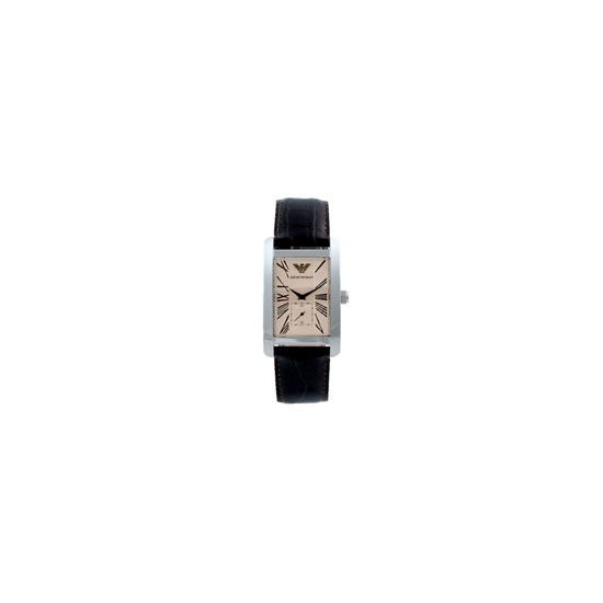 Emporio Armani Men's Black Leather Watch AR0154