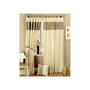 Photo of Kato Curtains Suede Panel Natural 163CMX274CM Curtain