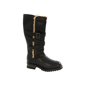 Photo of Caterpillar Black Wool Lined Boot Shoes Woman