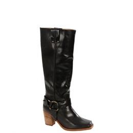 Caterpillar Black Leather Knee High Biker Boots Reviews