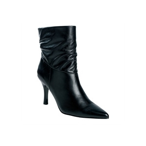 Photo of Gionni Black Leather Ankle Boot Shoes Woman
