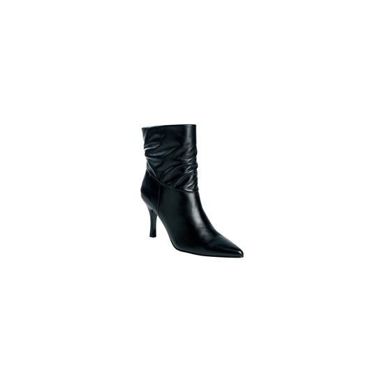 Gionni Black Leather Ankle Boot