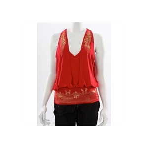 Photo of Rocawear Red and Gold Open Back Top Tops Woman