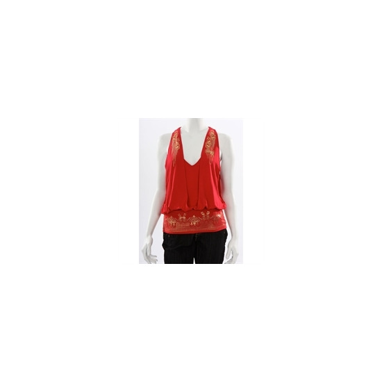 Rocawear Red And Gold Open Back Top