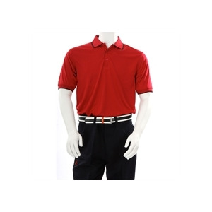 Photo of Farah Golf Birdseye Short Sleeve Polo - Red Sports and Health Equipment