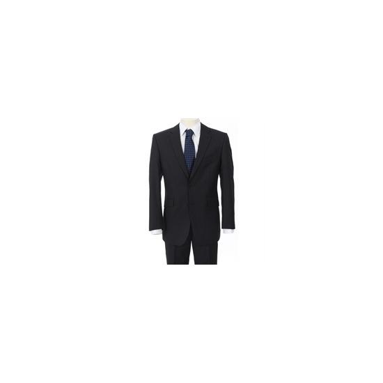 Scott black white pin stripe suit