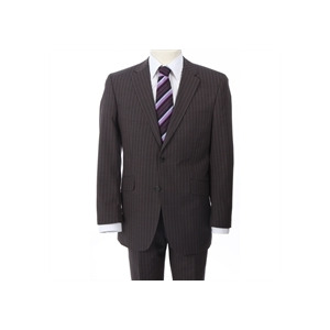 Photo of City Survival Brown Stripe Suit Jackets Man