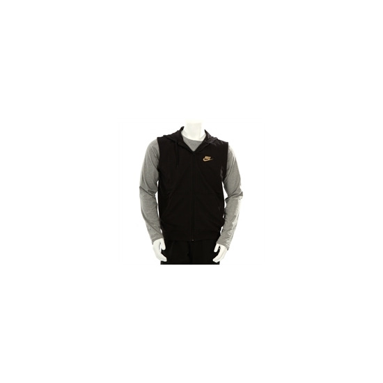 Nike Hooded Sleeveless Zip Through Black