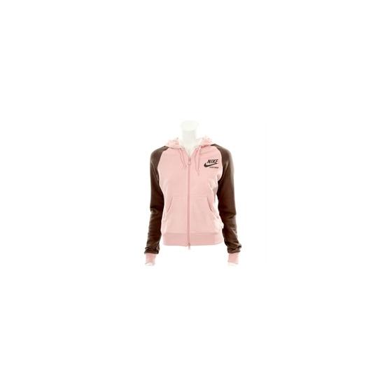 Nike Pink And Chocolate Hooded Zip Sweatshirt