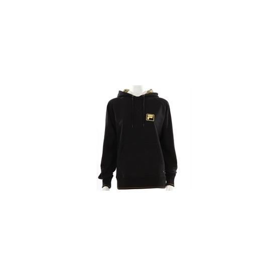 Fila Black Oversized Hooded Sweatshirt