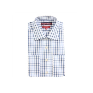 Photo of Stephens Brothers Shirt Blue Double Cuff Shirt