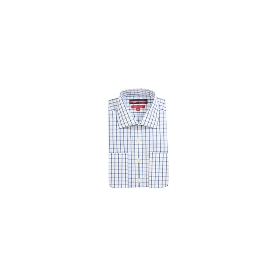 Stephens Brothers Shirt Blue Double Cuff