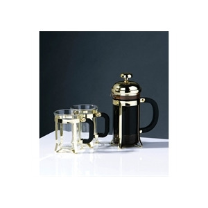 Photo of 3 Piece Cafetiere Set Gold Coffee Maker