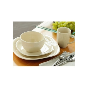 Photo of 16 Piece Quadra Dinner Set Cream Dinnerware