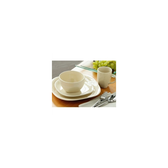 16 Piece Quadra Dinner Set Cream